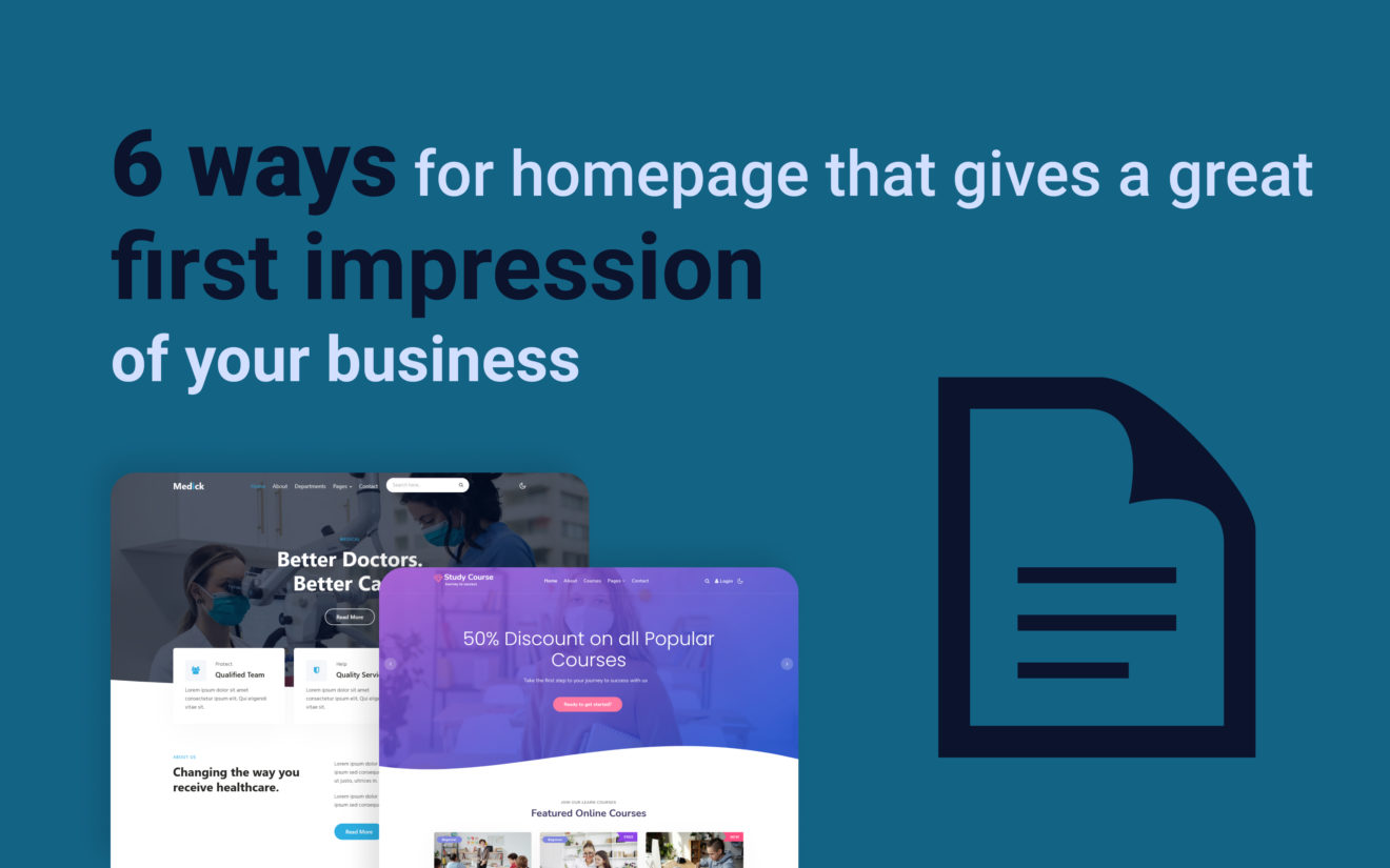 6 ways you can ensure your homepage gives a great first impression of your business